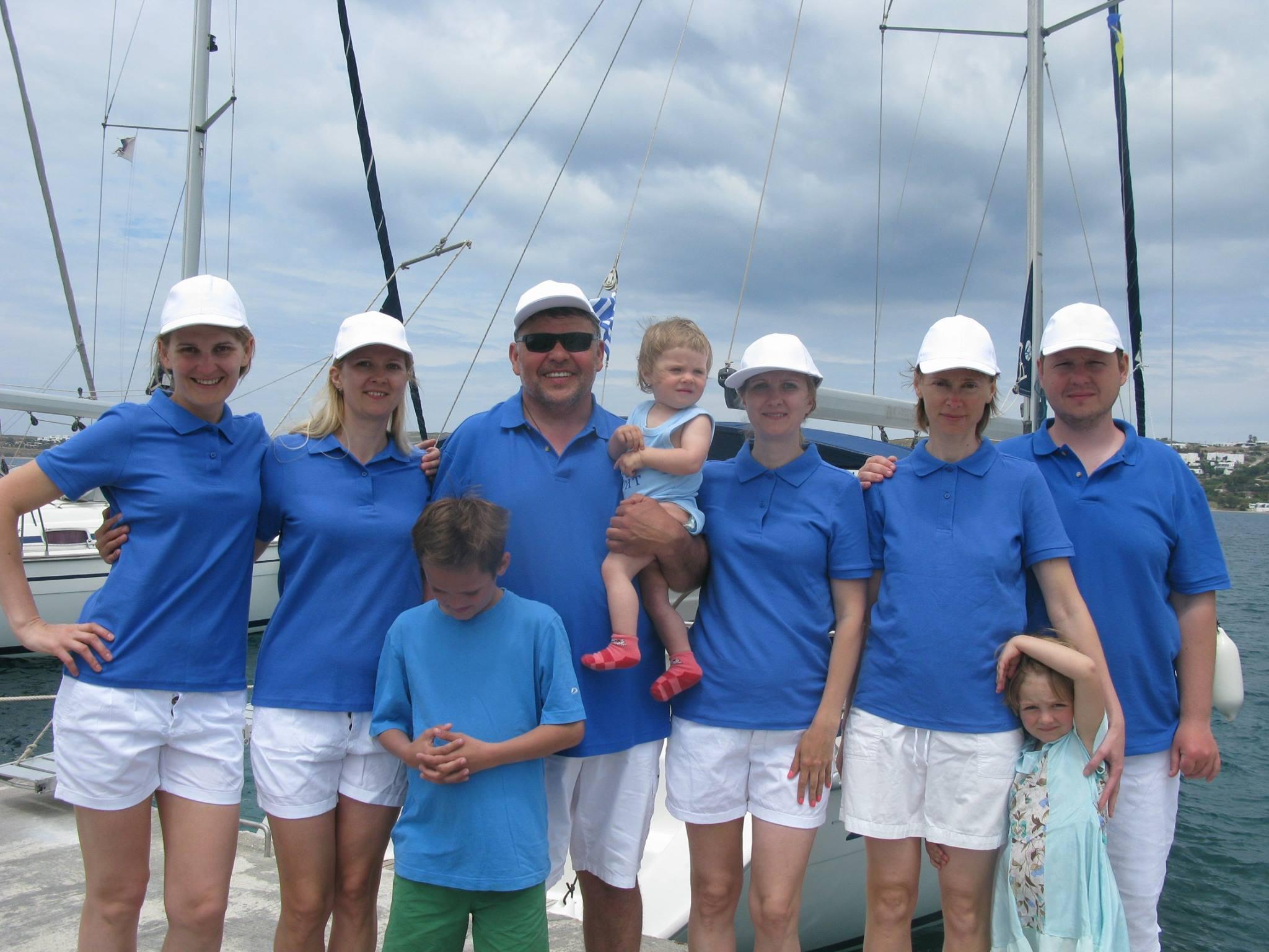 Дети на яхте-команда